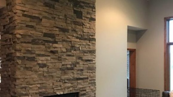 stacked chimney electric fireplace