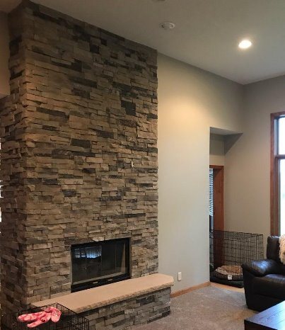 Stacked Chimney Fireplace